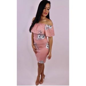9e004fed4c122 Dresses & Skirts - New Heaven Sent - Pink Off the Shoulder Dress
